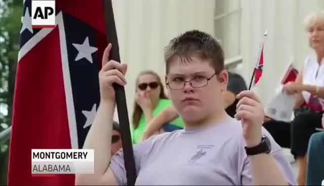 Watch Confederate Flag Supporters Rally in AL, SC GIF on Gfycat. Discover more ALABAMA, AP, Al, All Tags, Charleston, Finance, Reports, SC, Supporters, business, columbia, commentary, confederate, f539aa581c8c4987be8c9b88688b5914, flag, headlines, montgomery, news, politics, rally GIFs on Gfycat