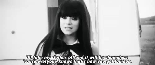 Watch and share Black And White GIFs and Lily Allen GIFs on Gfycat