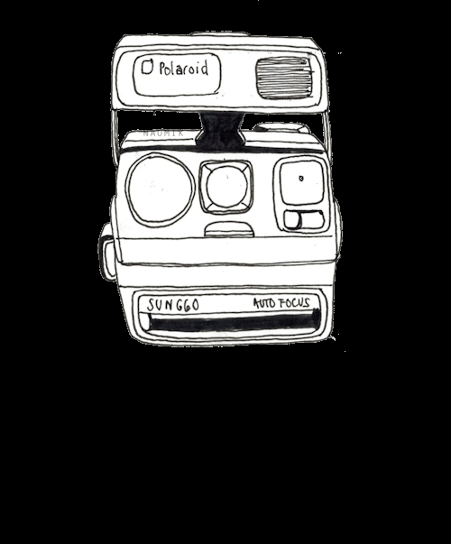 Black and White, animation, anyway this is for a video im making and id thought id show you guys, gif, illustration, my art, my posts, polaroid, this reminds me of the old shit i use to make and that makes me feel a bit ill, transparent, Polaroid Camera GIFs