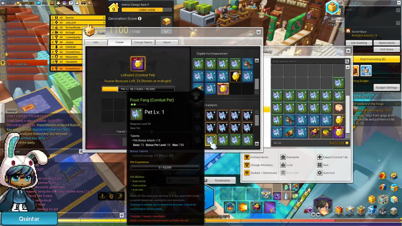 50, Epic, Maplestory, Maplestory2, Ms2, Pet, PocketCleric, Quintar, Last Supper ; Ducky Pet GIFs