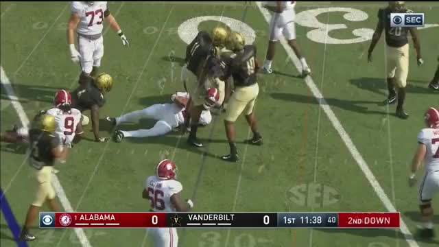 Watch Alabama @ Vanderbilt, 2017 (in under 30 minutes) GIF on Gfycat. Discover more Crimson Tide, big al, commodores, ncaa, roll tide, sec GIFs on Gfycat