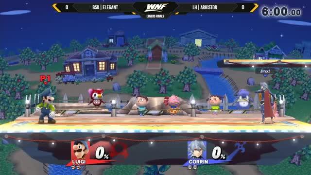 WNF 4.9 - BSD | Elegant (Luigi, Zero Suit) Vs. LH | Arkistor (Corrin, Cloud) Losers Finals - Smash 4