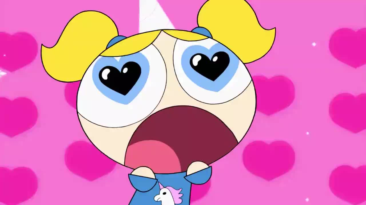 I love you, amazing, awesome, bff, bubbles, donny, eyes, girls, great, hearts, i, impressed, in, in love, love, powerpuff, together, wow, you, Powerpuff Girls | Bubbles loves Donny GIFs