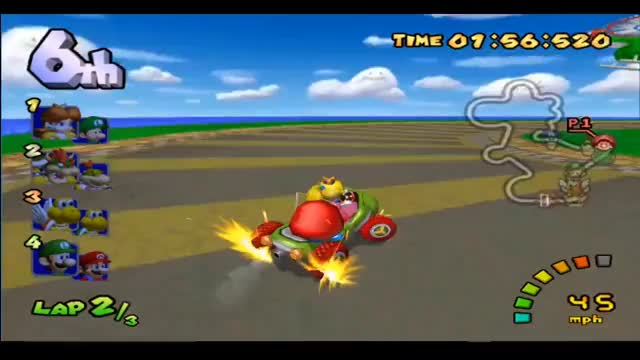 Watch and share Mike And Nate Play Mario Kart Double Dash #4 | Up Peach's Skirt GIFs on Gfycat