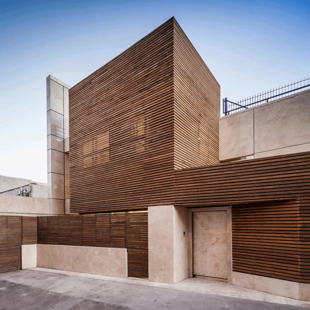 Watch and share Bagh Janat Residentail Architecture Iran Isfahan Bracket Design Studio Timber Travertine Sections Dezeen GIFs on Gfycat