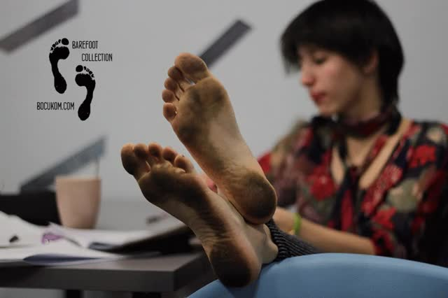 Watch and share Polina Dirty Feet - Barefoot Cafe [Monthly Discount $10,05] GIFs on Gfycat