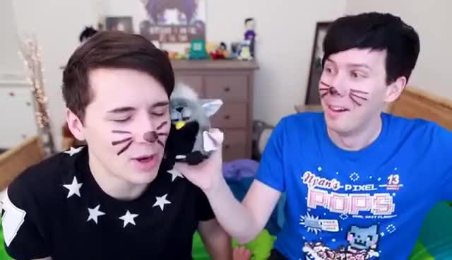 Watch this trending GIF on Gfycat. Discover more Dan Howell, Danisnotonfire, Furby, Phil is not on fire, scared GIFs on Gfycat