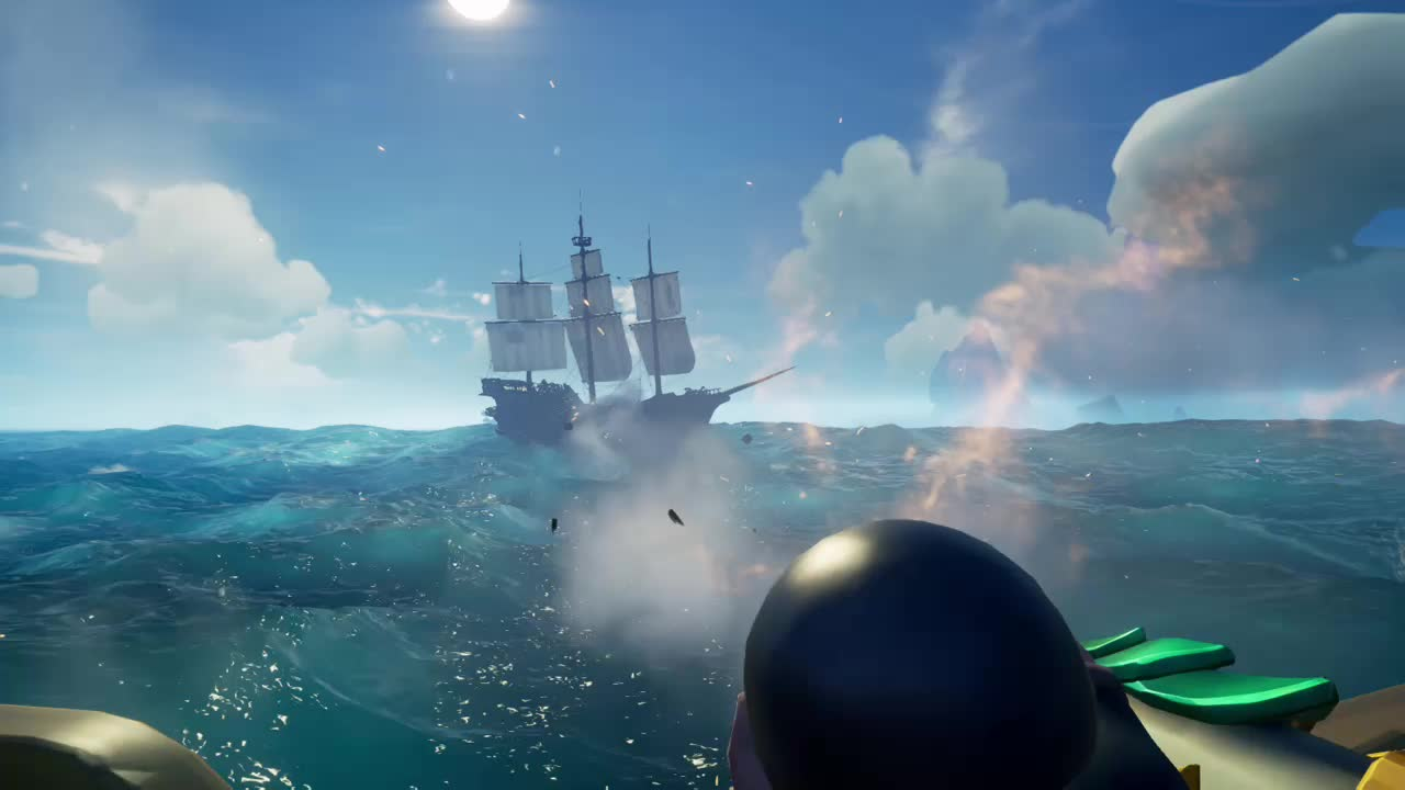 Cole is good, SeaofThieves, gamer dvr, xbox, xbox one, 1v4 with Parrot Sniper GIFs