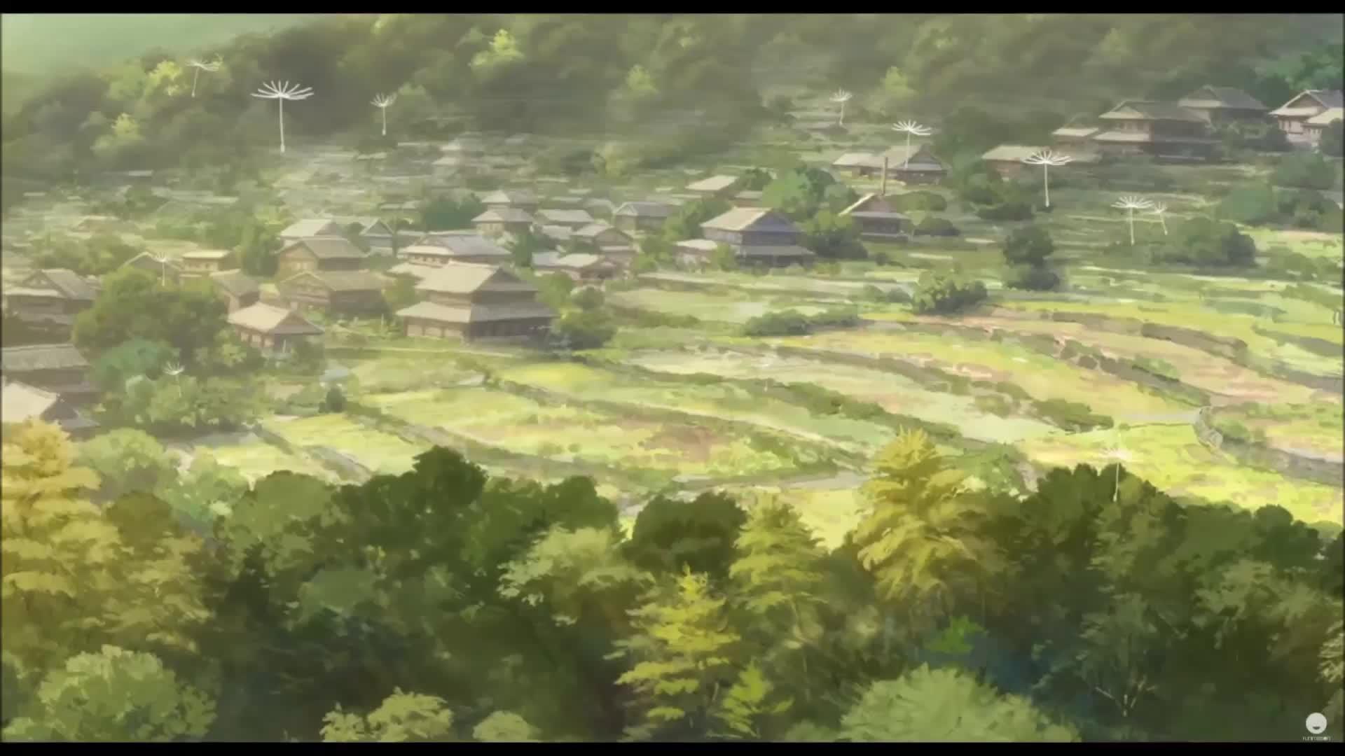 anime, funimation, in this corner of the world, inthiscorneroftheworld, kono sekai no katasumi ni, Dandelion seeds woft through the air. GIFs