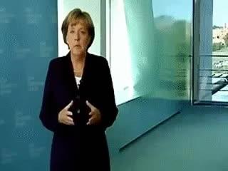 Watch and share Angela Merkel Okkulte Gesten GIFs on Gfycat