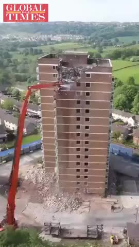 Watch and share Timelapse Of A Tidy Demolition GIFs by hellsjuggernaut on Gfycat