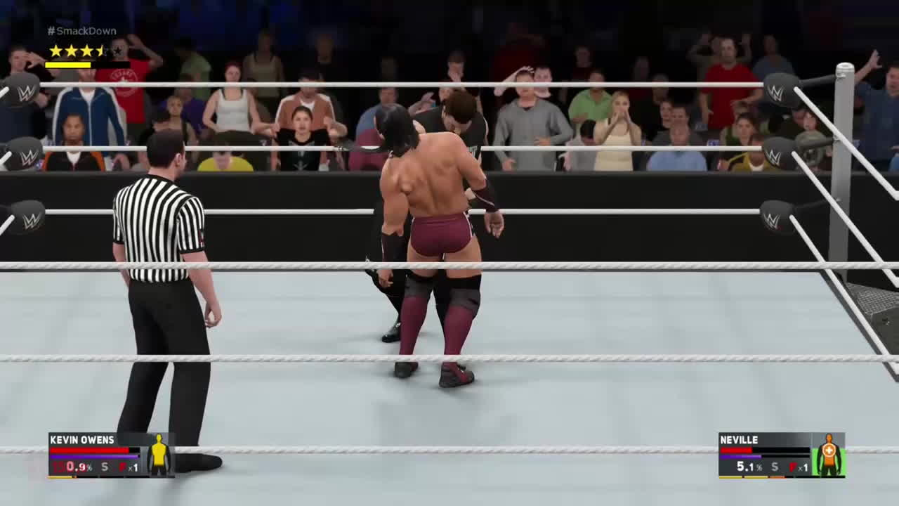 WWEGames, neville, wwe 2k17, A perfectly timed pin cancel creates a nicely done pin exit animation... GIFs