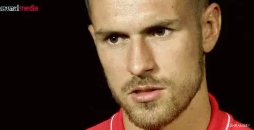 Watch this trending GIF on Gfycat. Discover more Aaron Ramsey, Arsenal, Arsenal FC, Close up, Gunners, Midfielder, Rambo, Ramsey, gif, gifs, interview, my edit, my edits, premier league GIFs on Gfycat