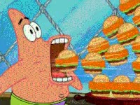 Watch and share Eating, Mouth Full, Burgers, Patrick Star, Spongebob Squarepants GIFs on Gfycat
