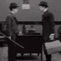 charlie chaplin and his twin - the floorwalker