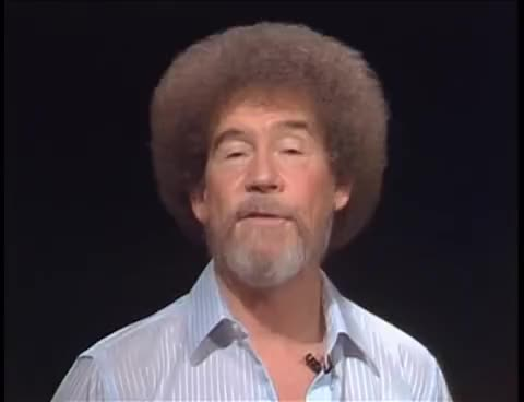 Watch and share Bob Ross - Mountains Of Grace (Season 30 Episode 9) GIFs on Gfycat