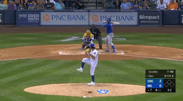 Watch and share Milwaukee Brewers GIFs and Chicago Cubs GIFs by _ben_clemens on Gfycat