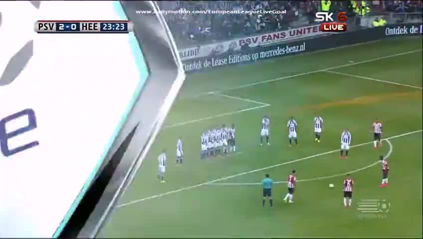 bakanewsjp, soccer, Depay freekick vs Heerenveen (reddit) GIFs