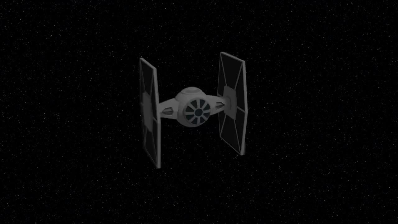 TIE FIghter Explosion Fracture GIFs