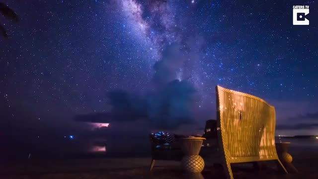 Watch and share Lightning Storm Beneath The Milky Way GIFs on Gfycat