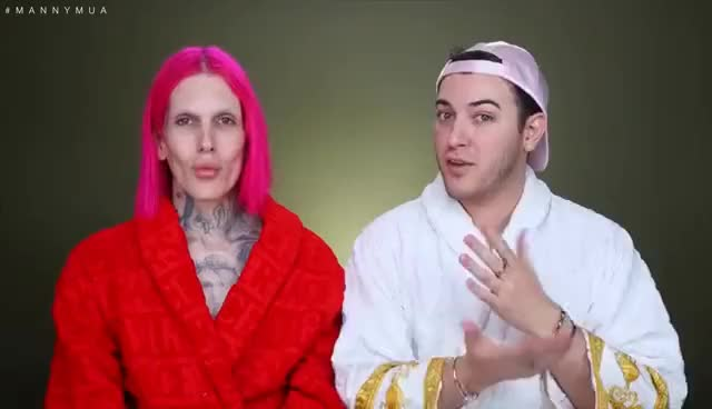 Watch and share $1,000 MAGNETIC GOLD FACE MASK! REVIEW + DEMO Feat. JEFFREE STAR GIFs on Gfycat