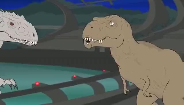 Watch and share ♪ JURASSIC WORLD THE MUSICAL - Animated Parody Song GIFs on Gfycat