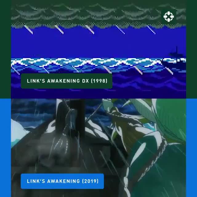 Watch Link's Awakening Intro 1998 vs 2019 GIF by @dr_godric on Gfycat. Discover more Link, Links awakening, Nintendo, Zelda GIFs on Gfycat