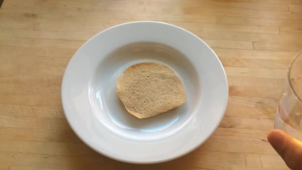notinteresting, This is what happens when you pour warm water on a cold slice of bread (reddit) GIFs