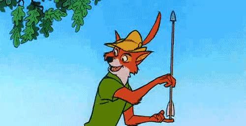 Watch and share Robin Hood Fox Bear Zing GIFs on Gfycat