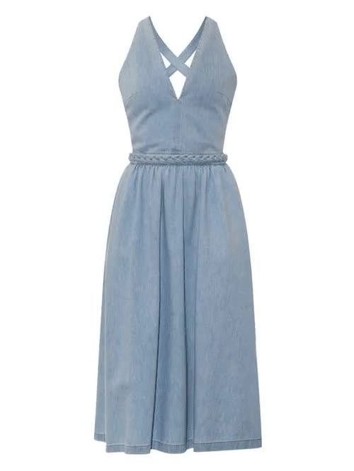 Watch Denim midi dress GIF on Gfycat. Discover more A-line Construction, Clothing, Colorful, Cotton, Denim, Dresses, Kate Middleton, Machine Washable, Matches, Midi, Paris Fashion Week FW15, Polyester, Slim Fit, Spring, Trending, Valentino, fashion GIFs on Gfycat