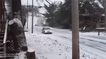 Car sliding down an icy street : nonononoyes GIFs
