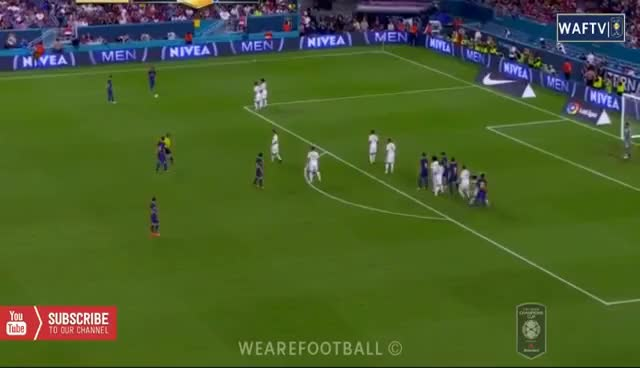 Watch and share Gerard Pique Goal - Real Madrid Vs Barcelona (2-3) GIFs on Gfycat