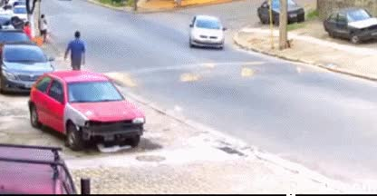 Watch and share Lucky Car Accident 6 GIFs on Gfycat