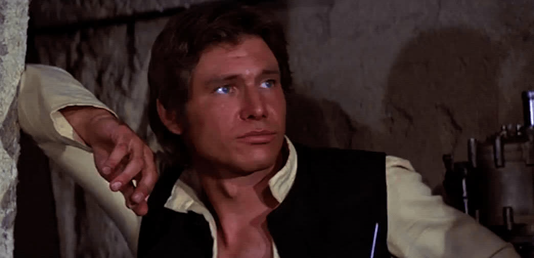 a new hope, annoyed, bored, boring, dgaf, eye roll, han solo, harrison ford, i'll pass, no thank you, over it, star wars, Han Solo Eye Roll GIFs