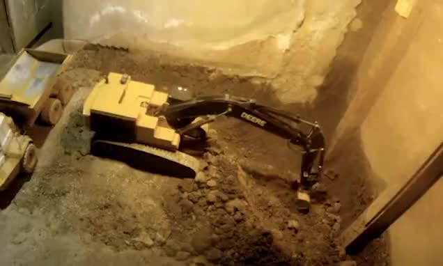Watch Farmer excavates his basement and digs a tunnel from his workshop using nothing but radio-controlled construction TOYS GIF by Ievgen Marchuk (@ievgenmarchuk) on Gfycat. Discover more equipment, toys GIFs on Gfycat