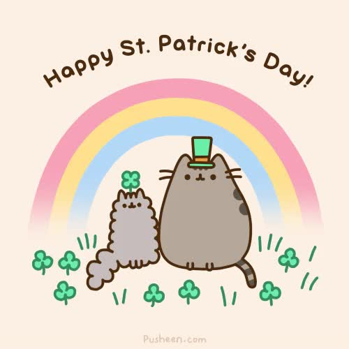 Watch and share St Patricks Day GIFs and Pusheen GIFs by Reactions on Gfycat