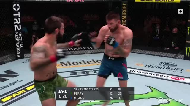 Watch and share Tim Means Tripple Jab Mike Perry GIFs by inoowhey on Gfycat