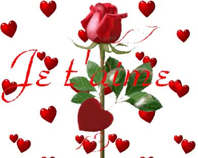 Watch and share JE T AIME / ROSES ROUGES COEURS GIFs on Gfycat