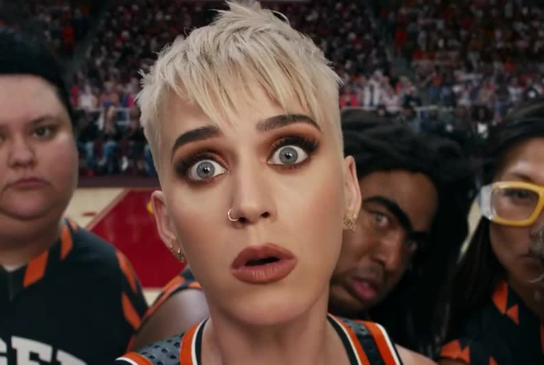 a, afraid, angry, fear, fuck, game, katy, minute, no, perry, pissed, scared, scary, suspicious, swish, the, think, wait, what, wtf, Katy Perry - Swish Swish GIFs