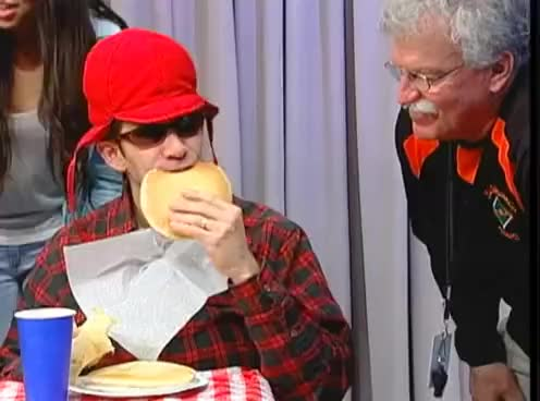 Watch and share Pancake Eating Contest - MHS INFO Lumberjack Day 2013 GIFs on Gfycat