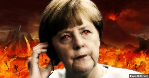 Watch and share Devil Merkel GIFs on Gfycat