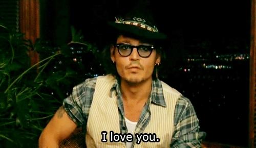 I Love You, Johnny Depp, i love you, I love you GIFs