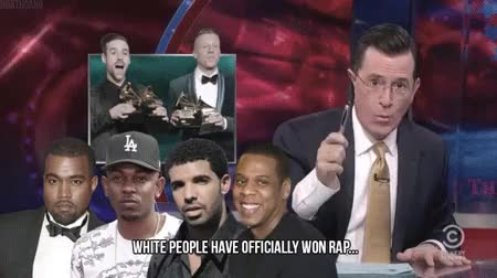 Watch Satire GIF on Gfycat. Discover more drake, jay z, kanye west, stephen colbert GIFs on Gfycat