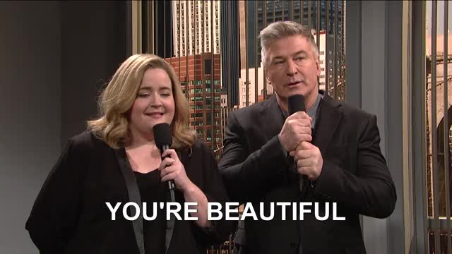 Watch and share Alec Baldwin GIFs and Aidy Bryant GIFs by Ricky Bobby on Gfycat