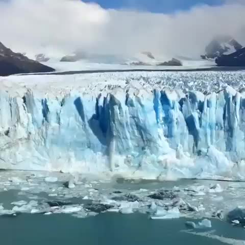 Watch and share Glacier Calving GIFs and Nature GIFs by Always Bring Sunscreen on Gfycat