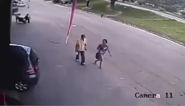 Watch Man gets hit by tire in the head GIF on Gfycat. Discover more related GIFs on Gfycat