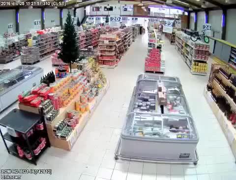 Watch and share Chile News - Un Supermercado En Quellon Durante Terremoto Chiloe Chile Earthquake Tsunami GIFs on Gfycat