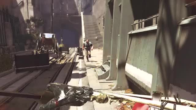 Watch Dishonored Stupid Guards GIF by sublyfe on Gfycat. Discover more clumsy, dishonored, gaming, guard, sticky grenade, stupid GIFs on Gfycat