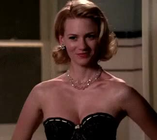 Watch and share January Jones GIFs and Smiling GIFs on Gfycat
