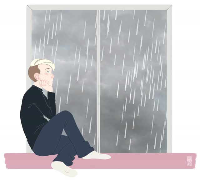 Watch and share Rainy Day GIF By Scribblywobbly GIFs on Gfycat
